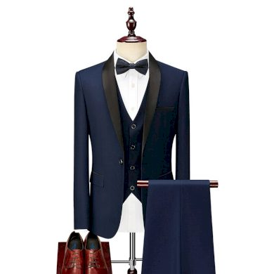 Elegantní pánský oblek sada 3v1 sako + vesta + kalhoty