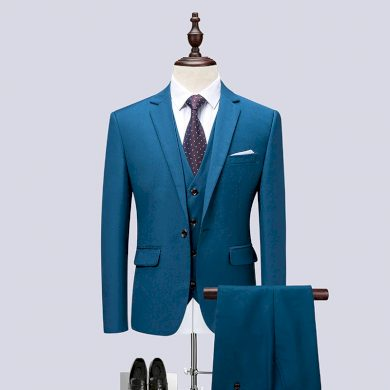 Trojdílný společenský oblek elegantní sada sako vesta a kalhoty