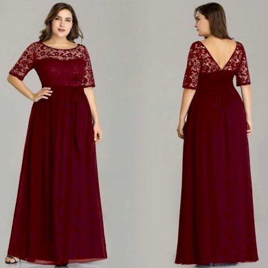 Společenské šaty pro plnoštíhlé plesové šaty nadměrné velikosti