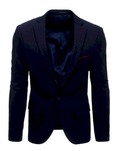 Pánské neformální sako modré z jemné bavlny sako s kapsami - VEL. L