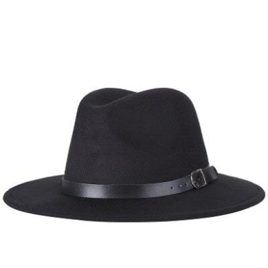 Jednobarevný klobouk unisex s řemínkem kolem hlavy