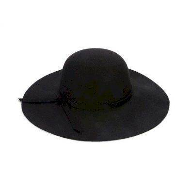 Klobouk pro dámy se širokou krempou černé barvy