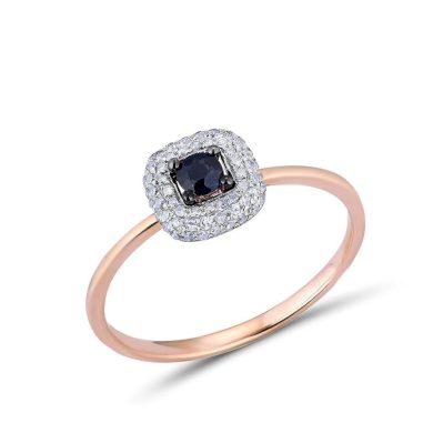 Elegantní zlatý prsten s kameny ve vintážním stylu
