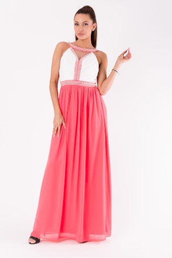 Dlouhé plesové šaty s perlami svatební šaty maxi