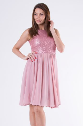 Krátké společenské šaty večerní a plesové Lesklé šaty s flitry