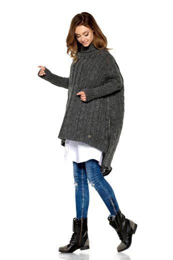 Mohérový oversize zimní golf copánkový podzimní svetr