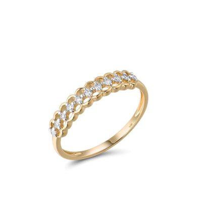 Elegantní prsten se vzory zdobený diamanty na každý den