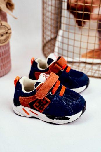 Dětská sportovní obuv se suchým zipem hnědé Jonaba