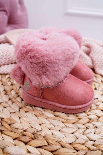 Dětské Sněhule zateplené Růžové Kiks