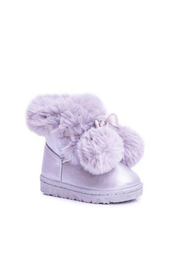 šedé dětské teplé sněhule Semišové boty Roofy