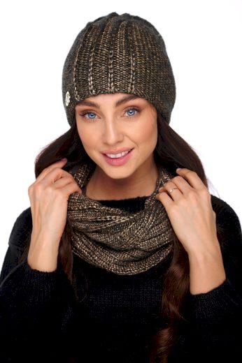 Elegantní sada čepice a šála s přidáním vlny