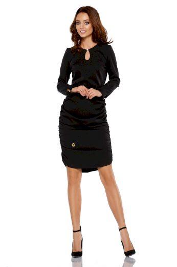 Pouzdrové elegantní šaty s nařasením