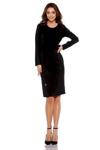Elegantní pouzdrové šaty s pásem