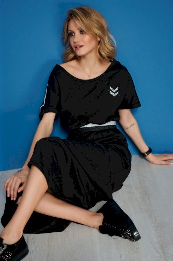 Stylové maxi šaty s ozdobnou stuhou