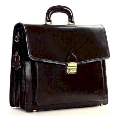 Pánská kožená aktovka kancelářská business taška LORENZ