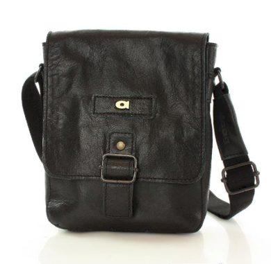 Kožená kurýrní taška pánská listonoška černá JAZZY ORGANIC 4