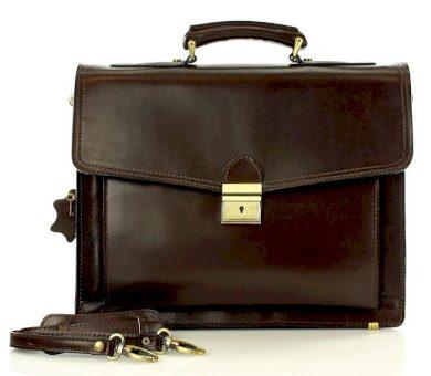 Pánská aktovka LORIS kožená taška tmavě hnědá