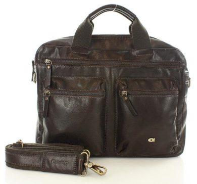 Kožená taška na notebook TAKE AWAY 7 hnědá