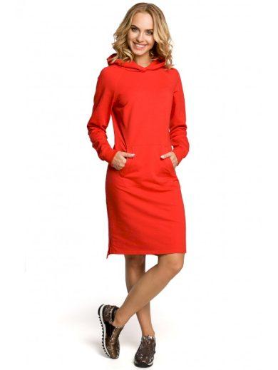 Sportovní šaty s klokaní kapsou MOE M329