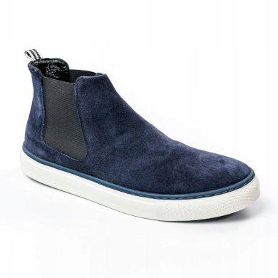 Semišové pánské boty Chelsea z přírodní kůže Rovicky