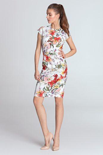 Klasické pouzdrové šaty s potiskem na léto