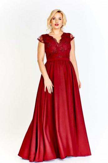 Společenské a svatební šaty s guipure krajkou krátké rukávy