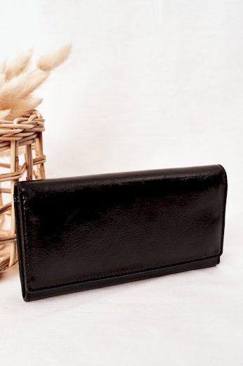 Velká Dámská Peněženka S Magnetem Černá