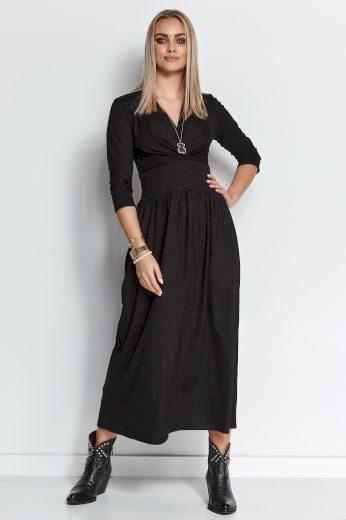 Maxi šaty z viskózové s výstřihem do obálky M671