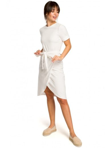 Sportovní midi šaty s vázáním v pase BeWear B118