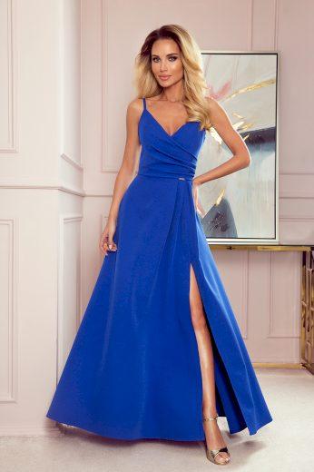 CHIARA elegantní maxi šaty na ramínka NUMOCO 299-1