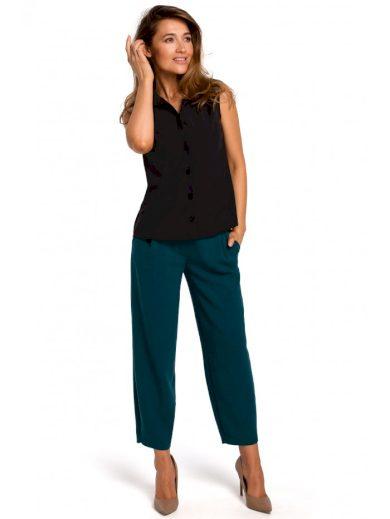 Klasická dámská košile bez rukávů S172