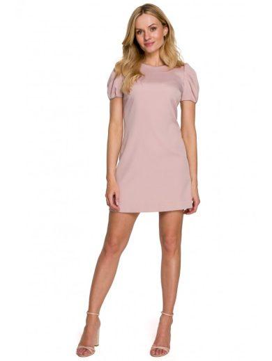 Mini šaty s nafouklými rukávy MAKEOVER K095