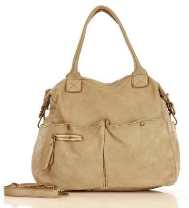 Nákupní taška shopper kabelka z přírodní kůže vintage handmade