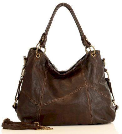 Kožená taška přes rameno shopper italská kabelka kůže ruční výroba