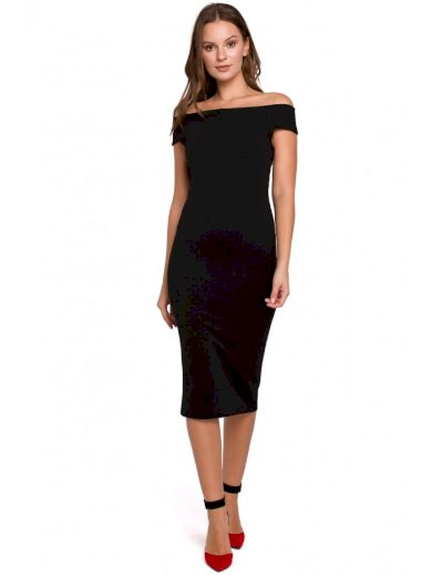 Pouzdrové šaty s odhalenými rameny MAKEOVER K001