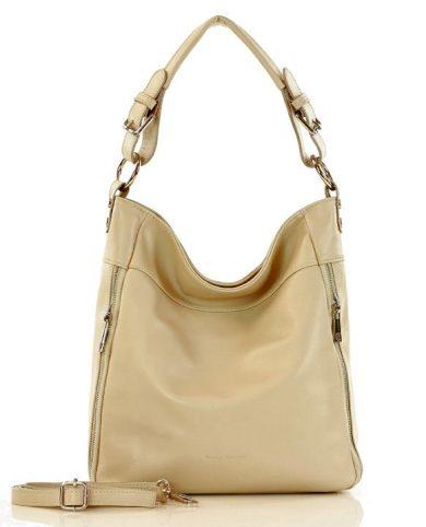 Městská kožená kabelka se zipy přírodní kůže savuage shopper bag