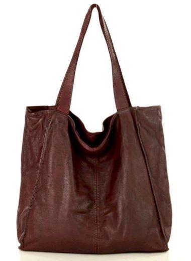 Městská kožená kabelka shopper nákupní taška z přírodní kůže ruční výroba