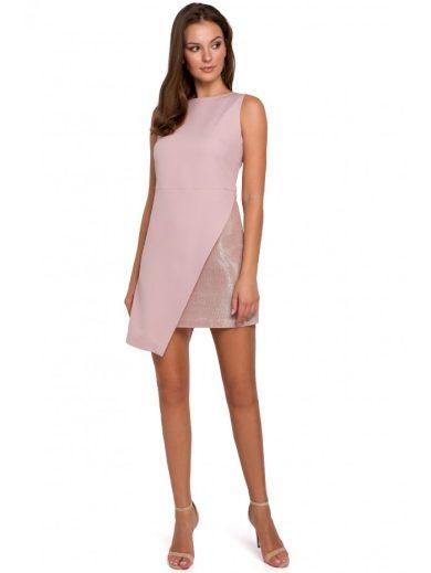 Asymetrické mini šaty bez rukávů K014