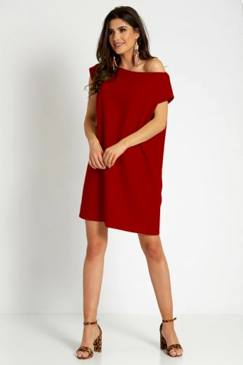 Letní mini šaty s páskem a oversize topem