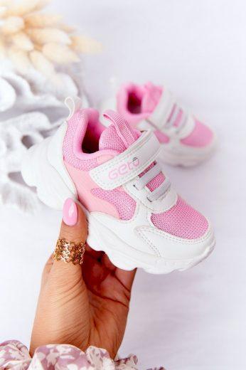 Dětské Sportovní Boty Bílé -Růžové Sugar