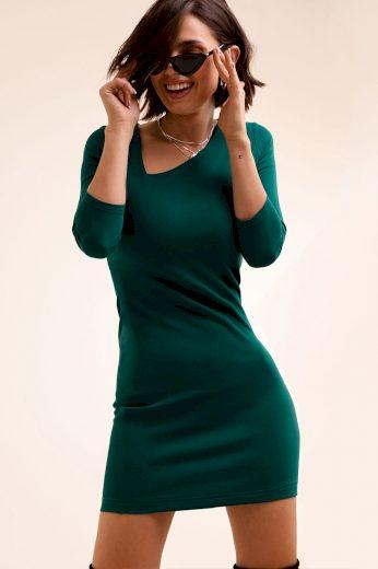 Pouzdrové mini šaty s asymetrickým výstřihem
