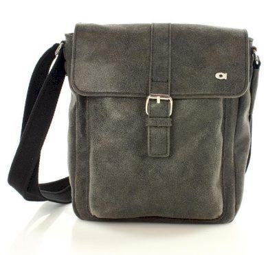 Černá kožená kabelka přes rameno JAZZY RISK 37 - TERREMOTO
