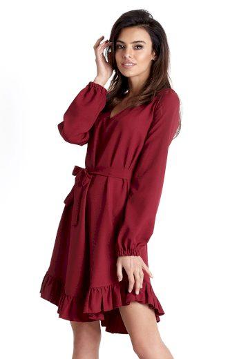 Áčkové šaty s volánem ve stylu boho