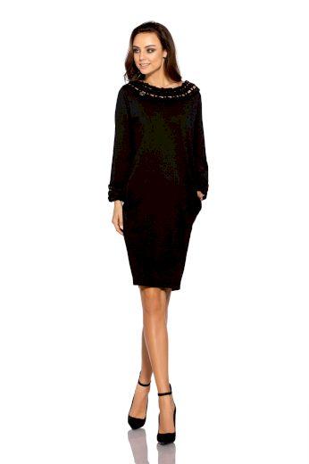Pletené šaty s copánkem L290 LEMONIADE