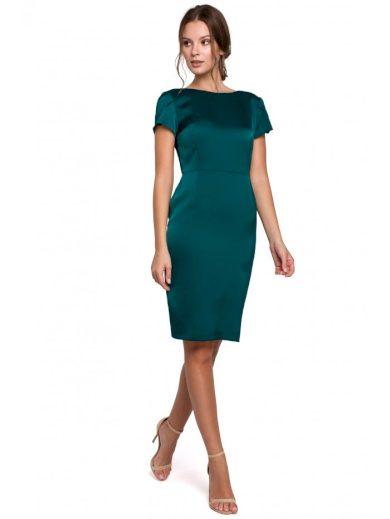 Pouzdrové šaty s výstřihem na zádech MAKEOVER K041