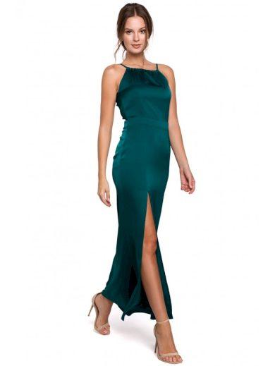 Maxi společenské šaty se svázaným výstřihem MAKEOVER K042