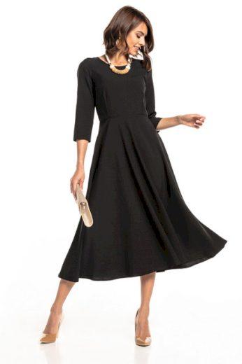 Maxi šaty s neviditelným zipem TESSITA T327 různé barvy