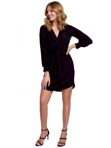 Obálkové šaty s výstřihem do V MAKEOVER K044