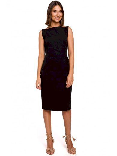 Tužkové šaty bez rukávů STYLE S216