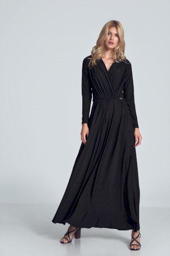 Maxi šaty s obálkovým výstřihem M705 FIGL